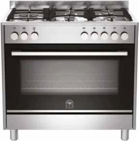 La-Germania-Futura-90cm-Dual-Fuel-Upright-Cooker on sale