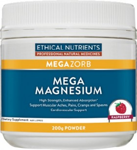 Ethical-Nutrients-Megazorb-Mega-Magnesium-Raspberry-200g-Powder on sale