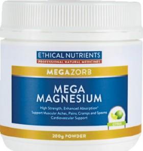 Ethical-Nutrients-Megazorb-Mega-Magnesium-Citrus-200g-Powder on sale