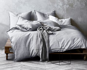 Aura-Home-Chambray-Fringe-Quilt-Cover-in-Dove on sale