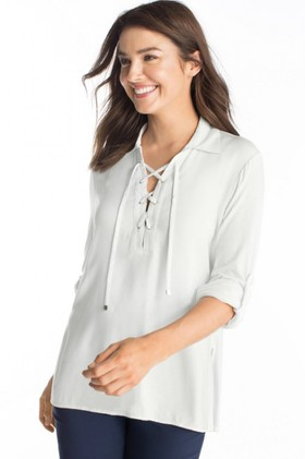 Capture-Lace-Up-Top on sale