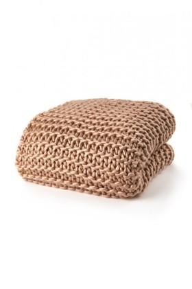 Hand-Knit-Acrylic-Throw on sale