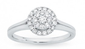 9ct-White-Gold-Diamond-Ring on sale