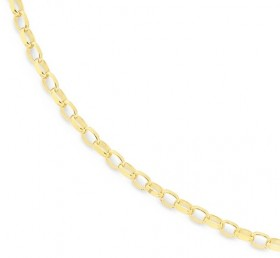 9ct-Gold-45cm-Oval-Belcher-Chain on sale