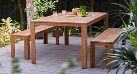 Miami-6-Seater-Recycled-Teak-Bench-Set on sale