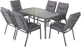 Brandon-6-Seater-Steel-Dining-Set on sale