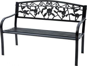 Cornwell-2-Seater-Steel-Bench on sale