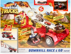 Hot-Wheels-Monster-Trucks-Downhill-Race-Go-Playset on sale