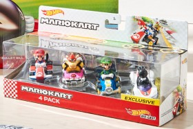 4-Pack-Hot-Wheels-Mario-Kart on sale