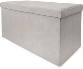 Silver-Velvet-Storage-Box on sale