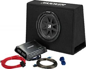 Kicker-10-Subwoofer-In-Custom-Slim-Enclosure-300W-2-Channel-Amplifier-250W-Pack on sale