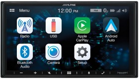 Alpine-7-200W-Shallow-Chassis-AV-Receiver-With-CarPlay-Android-Auto on sale