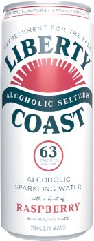 NEW-Liberty-Coast-Seltzer-Varieties-250mL-Cans-4-Pack on sale