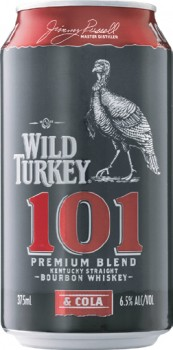 Wild-Turkey-101-Bourbon-Cola-Cans-10-Pack-375mL on sale