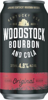 Woodstock-Bourbon-Cola-4.8-Cans-375mL on sale