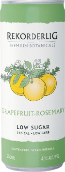 NEW-Rekorderlig-Botanicals-Peach-Basil-or-Grapefruit-Rosemary-250mL-Cans-4-Pack on sale