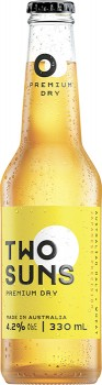 Two-Suns-Premium-Dry-Lager-330mL on sale