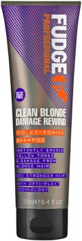 Fudge-Clean-Blonde-Damage-Rewind-Violet-Toning-Shampoo-250mL on sale
