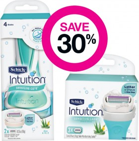 Save-30-on-Schick-Perfect-Finish-Intuition-Ranges on sale