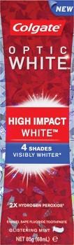 Colgate-Optic-White-High-Impact-White-Toothpaste-Glistening-Mint-85g on sale