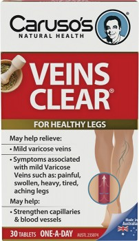 Carusos-Natural-Health-Veins-Clear-30-Tablets on sale