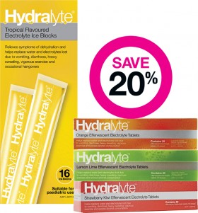 Save-20-on-Selected-Hydralyte-Products on sale
