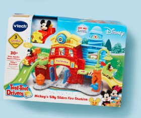 Vtech-Toot-Toot-Drivers-Mickeys-Silly-Slide-Fire-Station on sale
