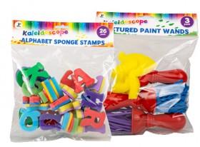 Kaleidoscope-Alphabet-Sponge-Stamps-or-Textured-Paint-Wands on sale