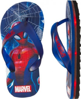Spider-Man-Boys-Light-Up-Thongs-Black on sale