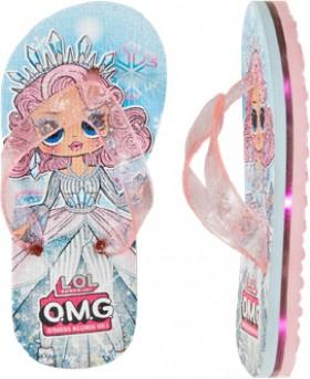 LOL-Surprise-Girls-Light-Up-Thongs-Pink on sale