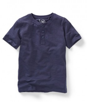 K-D-Kids-Organic-Henley-Tee-Blue on sale