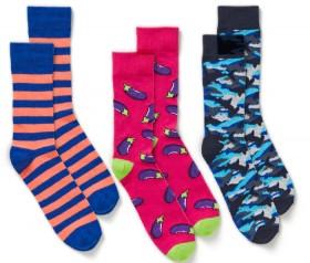 NEW-Brilliant-Basics-Mens-Novelty-Crew-Socks on sale