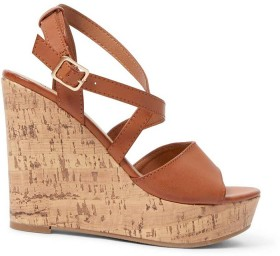 me-Cross-Band-Dress-Sandals-Brown on sale