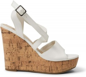 me-Cross-Band-Dress-Sandals-White on sale