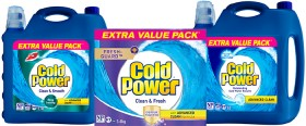 Cold-Power-Laundry-Liquid-5.4-Litre-Laundry-Powder-5.4kg-or-Laundry-Liquid-6-Litre on sale