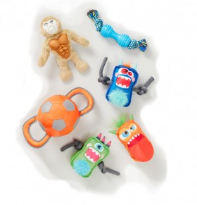 Tails-Assorted-Dog-Toys on sale
