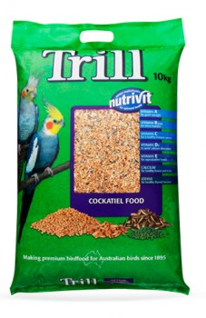 Trill-Cockatiel-Food-10kg on sale