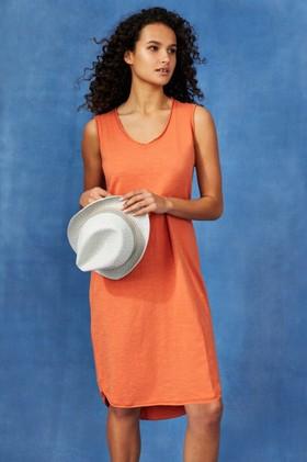 Capture-Cotton-Slub-Sless-Shift-Dress on sale