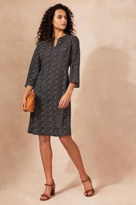 Emerge-Notch-Neck-Shift-Dress on sale
