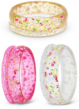 Pink-Poppy-Assorted-2pk-Garden-Rose-Bangles on sale