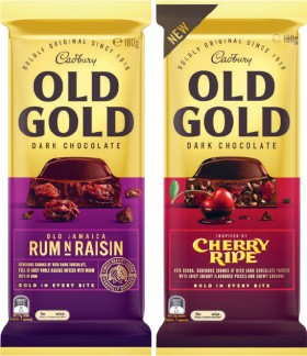 Cadbury-Old-Gold-Block-Chocolate-180g-or-Toblerone-200g on sale
