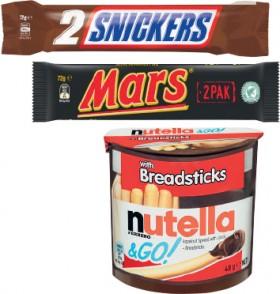 Mars-Kingsize-Bar-72g-or-Nutella-Go-48g-50g on sale