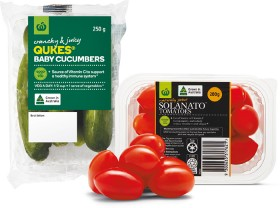 Australian-Sweet-Solanato-Tomatoes-200g-Punnet-or-Baby-Cucumbers-250g-Pack on sale