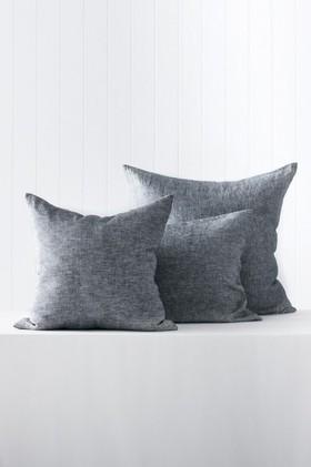 Hampton-Chambray-Linen-European-Pillowcase-Pair on sale