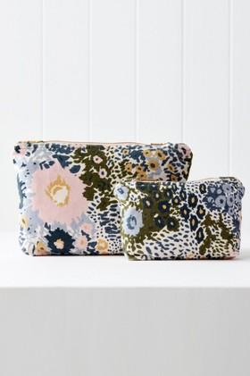 Cornflower-Printed-Velvet-Pouch on sale