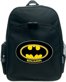 Personalised-Batman-Logo-Large-Backpack on sale