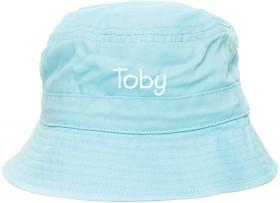 Personalised-Bucket-Hat-Pale-Blue on sale
