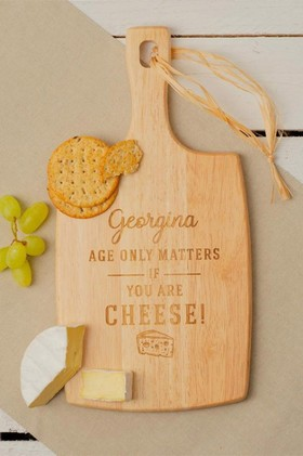 Personalised-Age-Only-Matters-Cheese-Board on sale