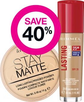 Save-40-on-Rimmel-London-Cosmetic-Range on sale