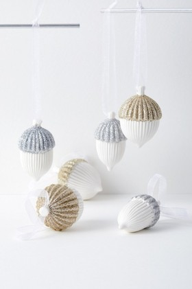 Glitter-Acorn-Small-Hanging-Decoration-Assorted-Set-of-Six on sale